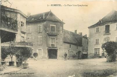 """CPA FRANCE 38 """"Morestel, Place Saint Symphorien"""""""