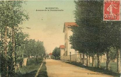"CPA FRANCE 38 ""Morestel, avenue de la Gendarmerie"""