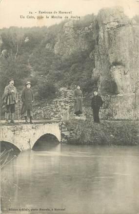 """CPA FRANCE 38 """"Morestel, près du Moulin de Roche"""""""