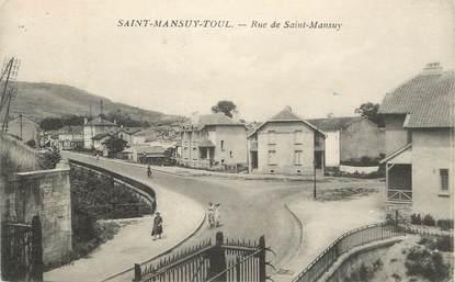 """/ CPA FRANCE 54 """"Saint Mansuy Toul, rue de Saint Mansuy"""""""