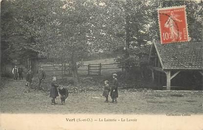 """CPA FRANCE 78 """"Vert, la laiterie et le Lavoir"""""""