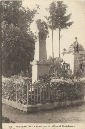 "CPA FRANCE 67 ""Wissembourg, monument Gal Abey Douay"""
