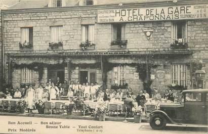 """CPA FRANCE 61 """"Domfront, Hotel de la gare"""""""