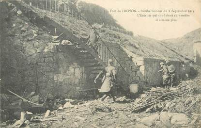 "CPA FRANCE 55 ""Verdun, Fort de Troyon, bombardements 1914"""