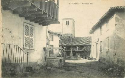 """CPA FRANCE 42 """"Cherier, la grande rue"""""""