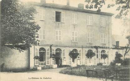 "CPA FRANCE 42 ""Cadollon, le chateau"""