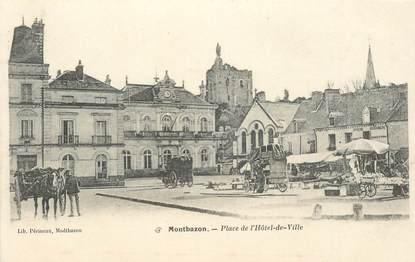"""CPA FRANCE 37 """"Montbazon, place de l'Hotel de ville"""""""