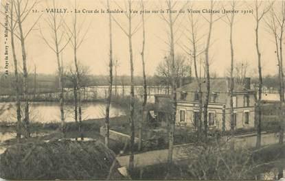 "CPA FRANCE 18 ""Vailly, la crue de la Sauldre, 1910"" / INONDATION"