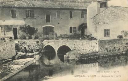 """CPA FRANCE 07 """"Bourg Saint Andéol, ruisseau de Tourne"""""""