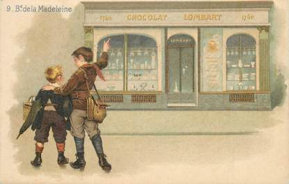 """CPA FRANCE 75001 """"Paris, Chocolat Lombart, bld de la Madeleine"""" / PUBLICITE"""