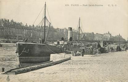 """CPA FRANCE 75001 """"Paris, Port du Louvre"""""""