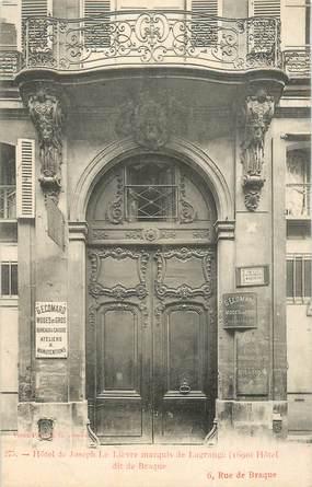 """CPA FRANCE 75003 """"Paris, Hotel de Joseph Le Lièvre"""""""