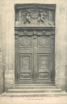 """CPA FRANCE 75004 """"Paris, Porte de l'Eglise Saint Louis en l'Ile"""""""