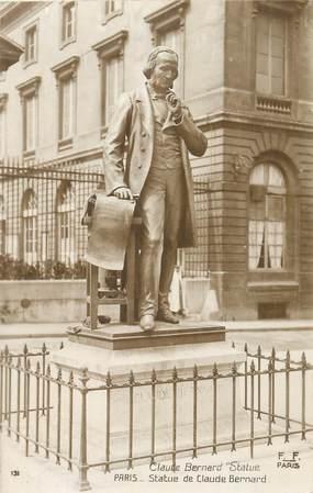 """CPA FRANCE 75005 """"Paris, Jardin des Plantes, Statue de Claude Bernard"""""""