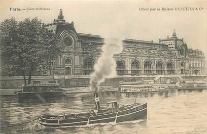 """CPA FRANCE 75007 """"Paris, Gare d'Orléans"""""""