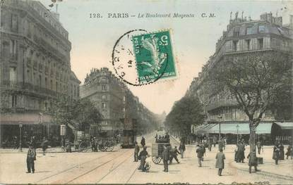 "CPA FRANCE 75009 ""Paris, le Bld Magenta"""
