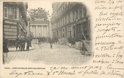 """CPA FRANCE 75010 """"Paris, Poste de Police cité d'Hauteville"""""""