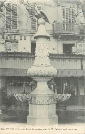 """CPA FRANCE 75011 """"Paris, Fontaine M. Dejean, square Pas de loup"""""""