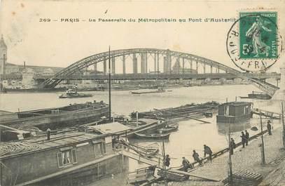 """CPA FRANCE 75012 """"Paris, la Passerelle du Métro au Pont d'Austerlitz"""""""