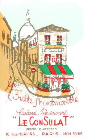 "CPSM FRANCE 75018 ""Paris, Rue Norvins, Cabaret restaurant Le Consulat"""""