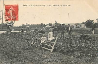 """CPA FRANCE 95 """"Saint Prix, la cueillette des Petits Pois"""""""