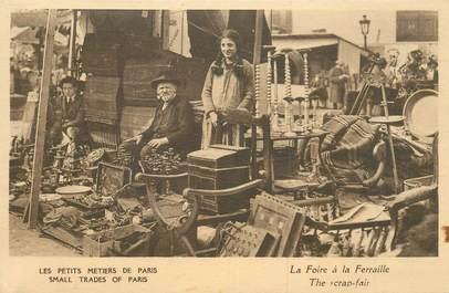 """CPA FRANCE 75 """"Paris, petits métiers, La Foire à la ferraille"""""""