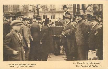 """CPA FRANCE 75 """"Paris, petits métiers, Le Camelot du Boulevard"""""""