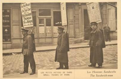"""CPA FRANCE 75 """"Paris, petits métiers, Les Hommes sandwichs"""""""