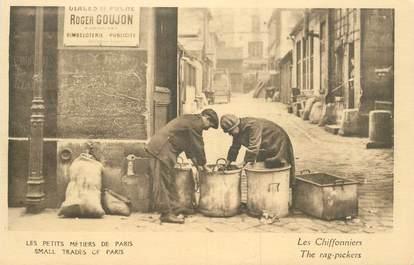 """CPA FRANCE 75 """"Paris, petits métiers, Les Chiffonniers"""""""