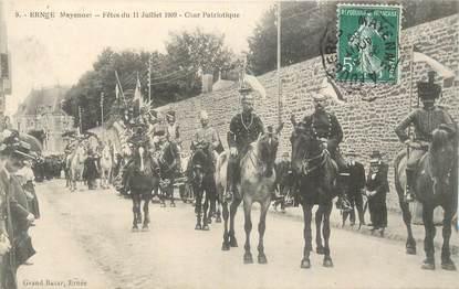 """CPA FRANCE 53 """"Ernée, Fêtes du 11 juillet 1909"""""""