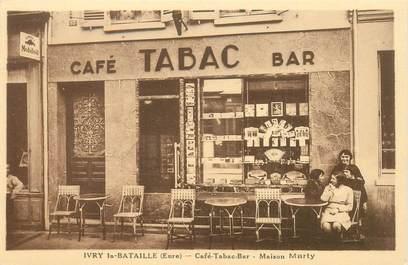 "CPA FRANCE 27 ""Ivry la Bataille, Café Tabac, Maison Marty"""
