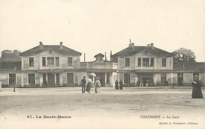 """CPA FRANCE 52 """"Chaumont, la gare"""""""