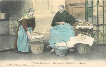 """CPA BELGIQUE """"Anvers, marchandes d'Oranges"""""""