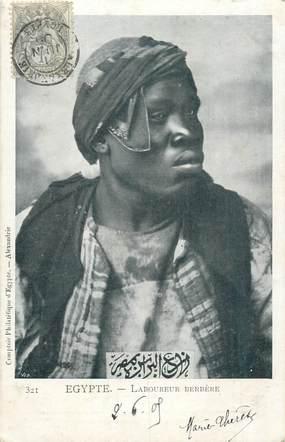 "CPA EGYPTE ""Laboureur berbère"""