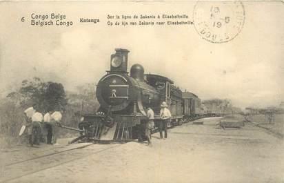 "CPA CONGO BELGE ""Katanga, la ligne ferroviaire"" / TRAIN"