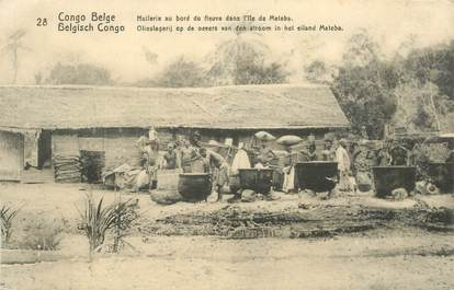 "CPA CONGO BELGE ""Huilerie au bord du fleuve"""