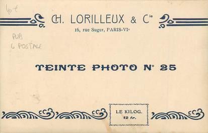 """CPA PUBLICITE CARTE POSTALE """" Ch. LORILLEUX & Cie, Paris"""""""