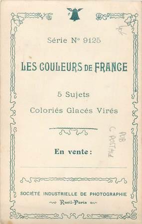 """CPA PUBLICITE CARTE POSTALE """" Les Couleurs de France"""""""