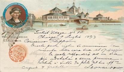 CPA USA / 1893 / Souvenir Christophe Colomb
