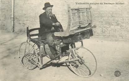 """CPA AUTOMOBILE """"Voiturette unique de Bartay Michel"""""""