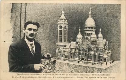 """CPA FRANCE 75018 """"Paris, représentation de Montmartre en maquette en aluminium"""""""