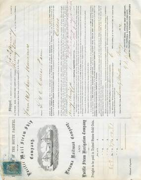 LOT 9 CONNAISSEMENTS (Lettres de transport maritime) USA / 1872