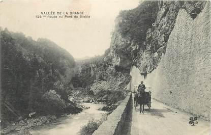 """CPA FRANCE 74 """"Vallée de la Drance, Route du Pont du Diable"""""""