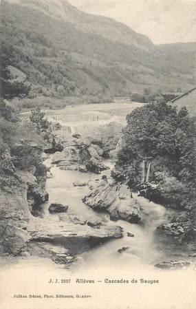 """CPA FRANCE 74 """"Allèves, cascades de Bauges"""""""