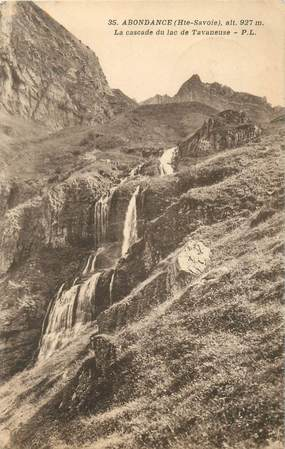"""CPA FRANCE 74 """"Abondance, La Cascade du Lac de Tavaneuse"""""""