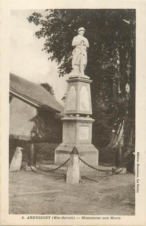 """CPA FRANCE 74 """"Arbusigny, le monument aux morts"""""""