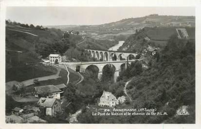 """CPSM FRANCE 74 """"Annemasse, le pont de Vaison et le chemin de fer"""""""