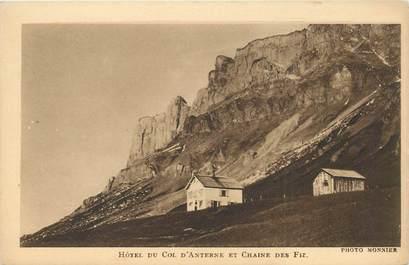 """CPA FRANCE 74 """"Hotel du Col d'Anterne et Chaine des Fiz"""""""