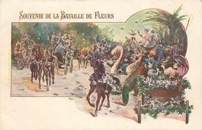 """CPA FRANCE 06 / CARTE PRÉCURSEUR """"Nice, le Carnaval, Bataille de fleurs"""""""