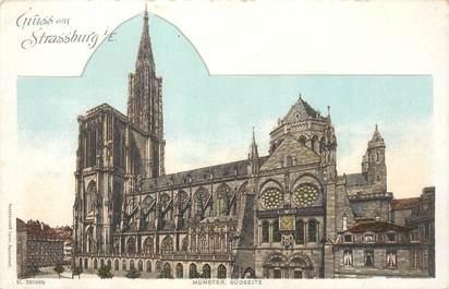 "CPA FRANCE 67 ""Strasbourg"""" / GRUSS / CARTE PRÉCURSEUR"